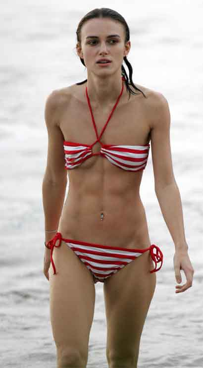 Keira Knightley Beach Bathing Suit Female Celebrity